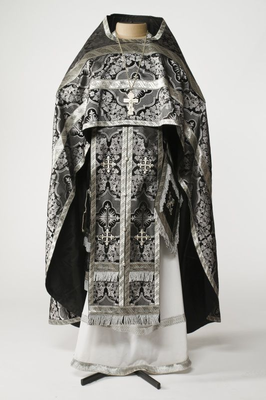 Image result for bluish grey brocade vestment gown