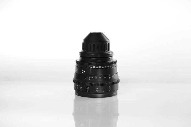 Carl Zeiss UP F:40, T1.9, диаметр передней линзы - 95 мм.