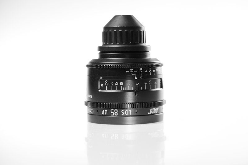 Carl Zeiss UP LDS F:85, T1.9, диаметр передней линзы - 104 мм.