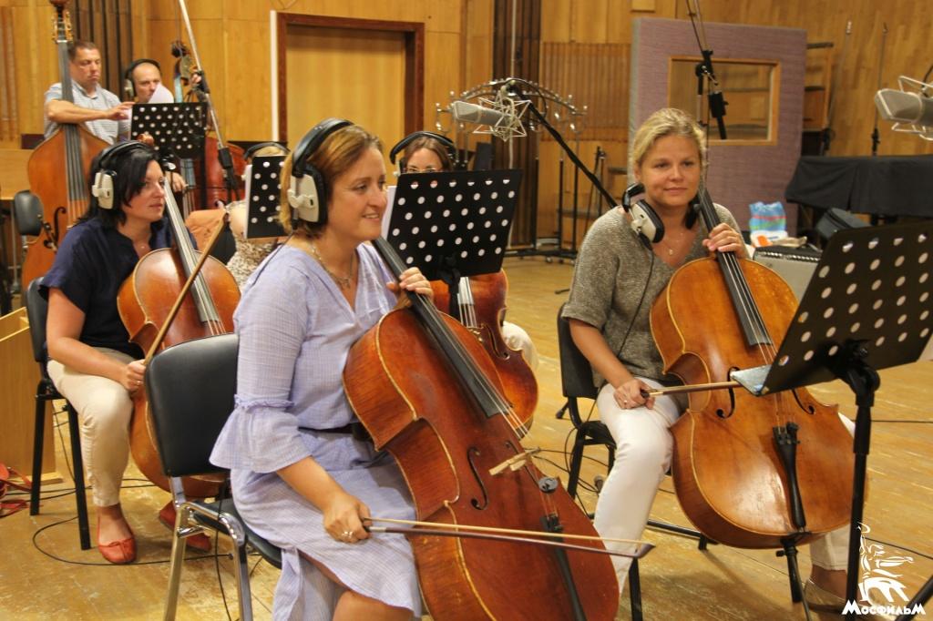 Запись музыки к фильму «Ржев» в Первой музыкальной студии «Мосфильма»