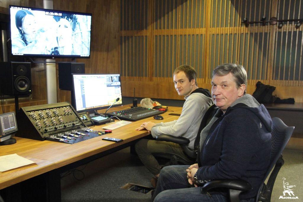 Работа по речевому озвучиванию сериала «Тобол» в Одиннадцатой студии «Мосфильма»